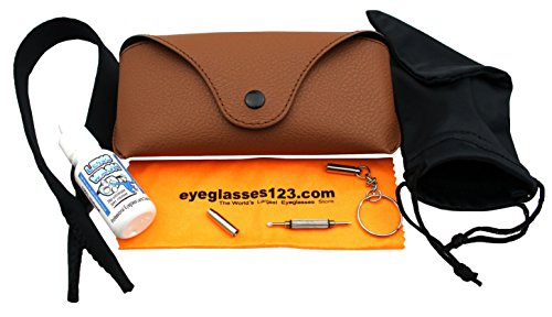 Eye-Max Leather Like Sunglasses case, Brown, 1 pack, - Case Aviator