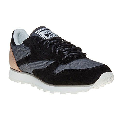 Reebok - CL Leather Fleck - AQ9723 - Color: Black-Grey - Size: 12.0