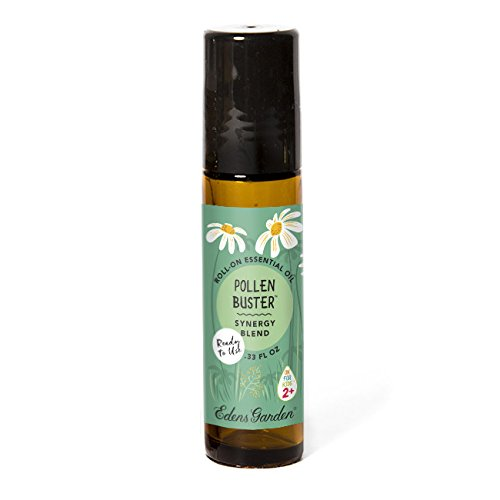 Pollen Buster 10ml Roll-On OK For Kids Pre-Diluted Synergy Blend Essential Oil by Edens Garden - Ready to use! (Fir Needle, Lavender, Rosalina, Geranium, Blue Tansy and Moroccan - Glasses Your Nose On Sit That