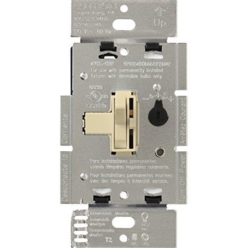 Lutron Toggler 250-Watt C.L Dimmer Switch for Dimmable LED, Halogen and Incandescent Bulbs, Single-Pole or 3-Way, AYCL-253P-IV, ()