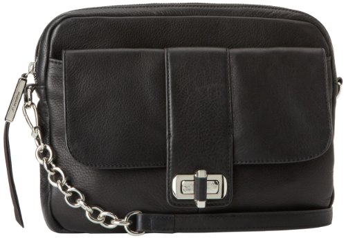 B. MAKOWSKY Women's Harlow Shoulder Bag,Black,One (Makowsky Black Leather)