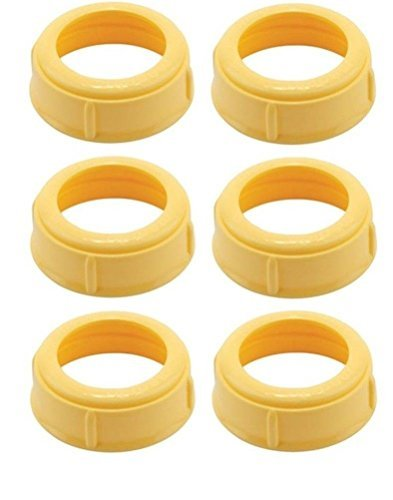Crib Cap - (6 Collars) MEDELA Bottle Nipple Collars Rings New! for slow or medium flow Wide Base