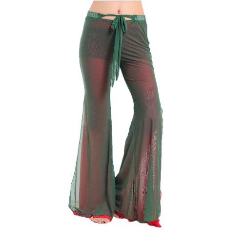 H: oter Belly Dancing Tanzen Sexy Pant, bequemes Material, Preis / Stück - grün