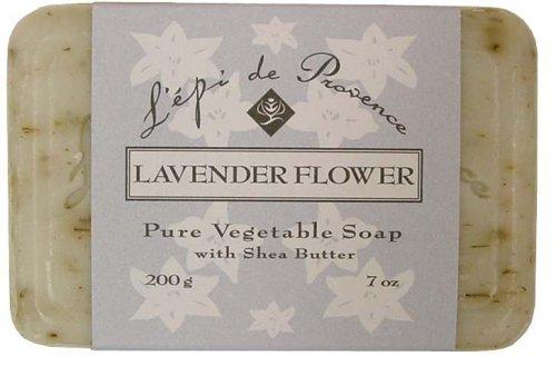 L Epi Provence - L'Epi de Provence Shea Butter Enriched French Bath Soap - Lavender Flower - 7 oz. - 200g
