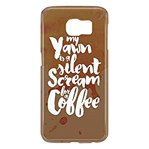 Loud Universe Samsung Galaxy S6 3D Wrap Around Scream For Coffee Print Cover - Multi Color