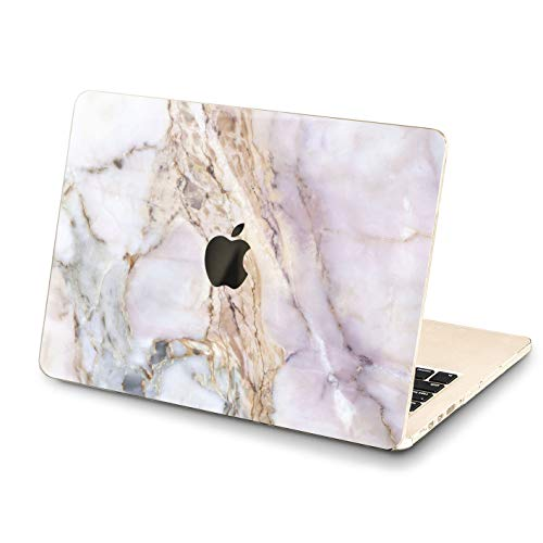(Lex Altern MacBook Cracked Marble Pro Case 15 inch 2018 Air 13 12 11 White Grey A1706 A1989 A1369 Clear Nature Mac 2017 Retina Butt Hard Cover Apple Lightweight Laptop Protective Girl Print Touch Bar)
