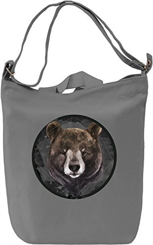 Cute Bear Borsa Giornaliera Canvas Canvas Day Bag| 100% Premium Cotton Canvas| DTG Printing|