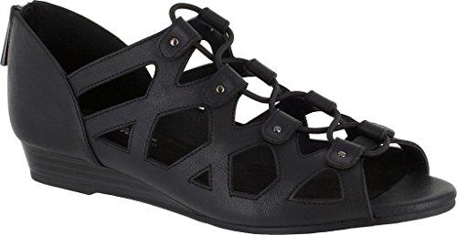 Sandale Compensée Savvy Femme Facile Street Noir