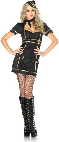 Womens Sexy Sultry Stewardess Costume