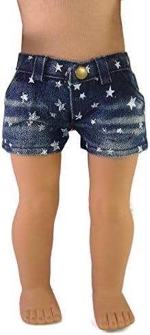 [해외]Doll Clothes Sew Beautiful Trendy Denim Star Shorts for 18 American Girl Dolls by DCSB / Doll Clothes Sew Beautiful Trendy Denim Star Shorts for 18 American Girl Dolls by DCSB
