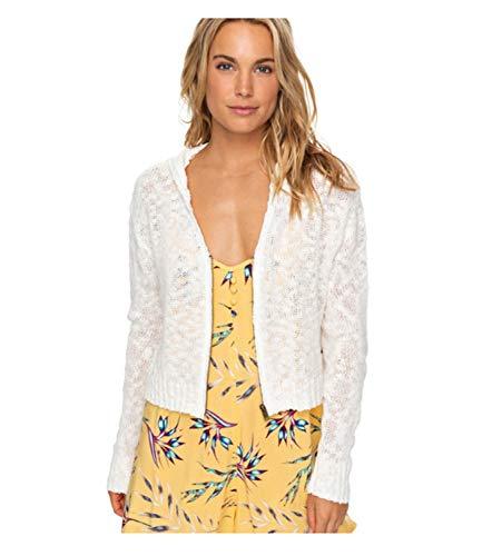 (Roxy Womens Pullover Crop Hooded T-Shirt ARJZT05015, Marshmallow, L)