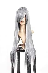 Final Fantasy Silve mix Grey Long Straight Hair Cosplay