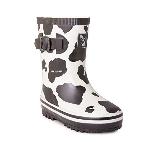 Work Cow Black Femme Wellingtons Cow Noir Evercreatures White qYtd5wxYg