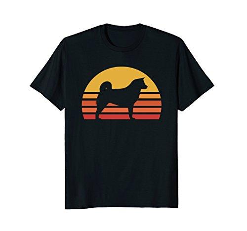 Retro Akita Silhouette Sun Shirt