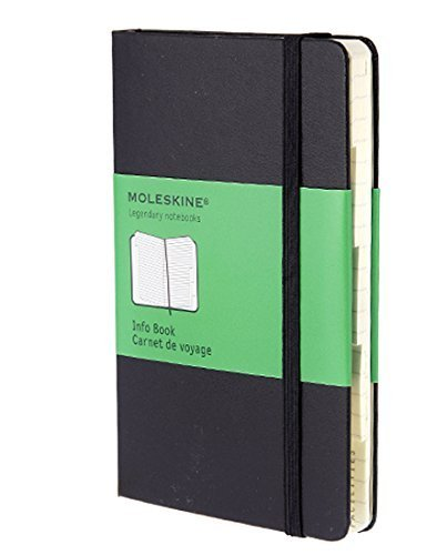 Moleskine Classic Info Book, Pocket, Structured, Black, Hard Cover (3.5 x 5.5) (Classic Notebooks) by Moleskine (2008-01-01)