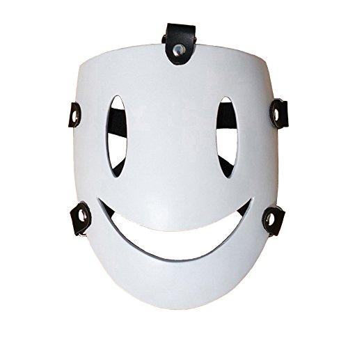 Rulercosplay High-Rise Invasion Tenku Shinpan White Smile Mask Halloween Cosplay Mask -