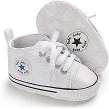 Tutoo Unisex Baby Boys Girls Star High Top Sneaker Soft Anti-Slip Sole Newborn Infant First Walkers Canvas Denim Shoes