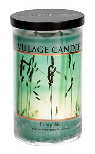 (Village Candle Tranquility 24 oz Glass Tumbler Scented Candle, Large)