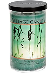 Village Candle Tranquility 24 oz Glass Tumbler Scented Candle, Large