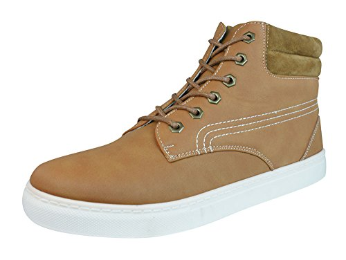 Galaxy P294 Heren Casual Lace Up Hi Top Sneakers / Enkellaarzen Bruin