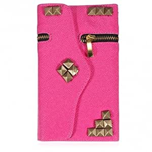 PU Leather Zipper Card Wallet Case For Samsung Galaxy Note 2 N7100 --- Color:Black