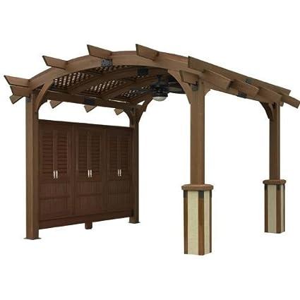 Amazon.com: Sonoma pérgola de madera arqueada – 16 x 16 pies ...