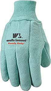 Wells Lamont Handy Andy Heavyweight Men's Chore Gloves with Rubber Lining, Large (645L)