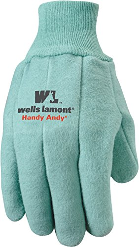 Wells Lamont Handy Andy Heavyweight Men's Chore Gloves with Rubber Lining, Extra Large (Chore Gloves)