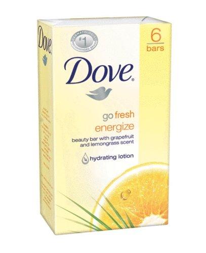 - Dove Go Fresh Energize Beauty Bar, Grapefruit and Lemongrass, 6 Count (4.25 Ounce Each)