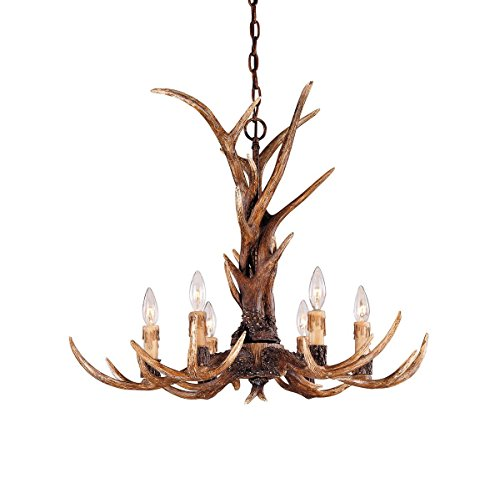 Savoy House 1-40017-6-56, Blue Ridge 6-Light Chandelier, New Tortoise (New Tortoise Shell Finish)