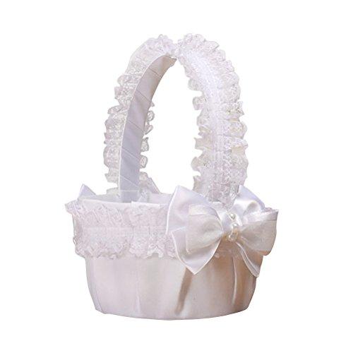 decoración boda la cesta la de de del flor de novia la la fiesta la nupcial la la para Bowknot BESTOYARD de ceremonia cesta de la de de Cesta qwzBYFR