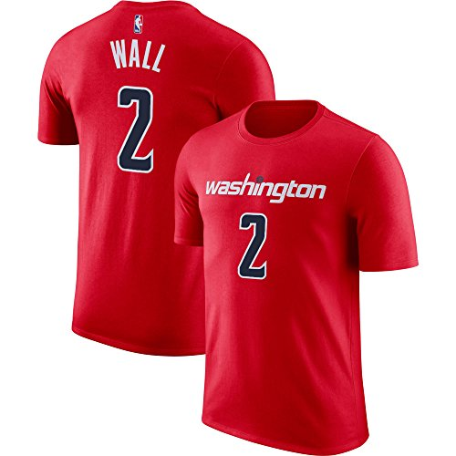 Outerstuff NBA Youth Performance Game Time Team Color Player Name and Number Jersey T-Shirt (Large 14/16, John Wall)