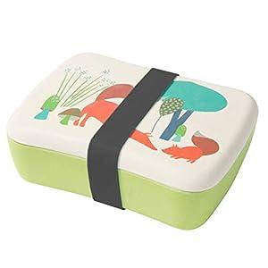 BIOZOYG Bento Lunch Box in bambù per Bambini I Porta Pranzo con Extra Scatola Snack I Scatola Merenda a Motivo - Volpe per Asilo I Portamerenda Set per Bimbi e Bimbe Senza BPA per Alimenti 1 spesavip