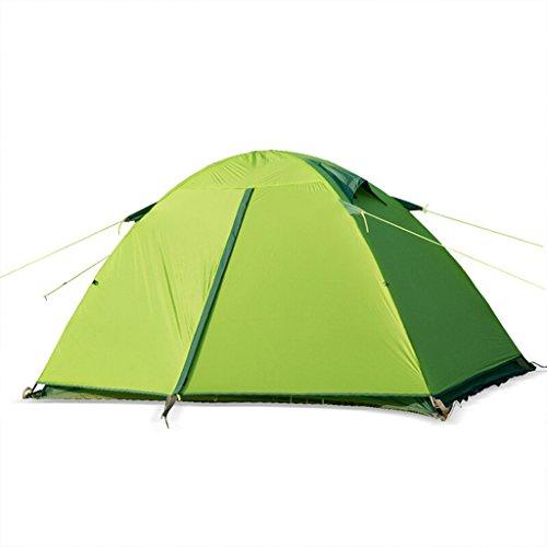 見積り近々輝くテント屋外ダブルダブルシリコンキャンプテント防風レインコートアルミポールテント