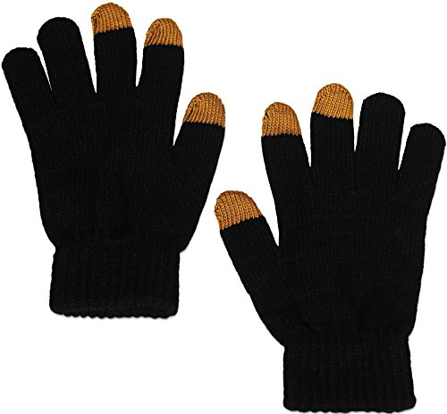 Eurow Knitted Touch Screen Gloves for Texting iPhone Galaxy Android Smartphone Tablet Pair of 2