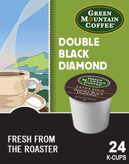 Green Mountain Coffee Further BOLD Variety Pack -- DOUBLE BLACK DIAMOND & KENYAN AA -- 48 K-Cups for Keurig Brewers