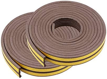 Foam Tape Adhesive Seal Strip 9mm Width 4mm Thick Total 32.8 Feet Long Brown 4Pcs