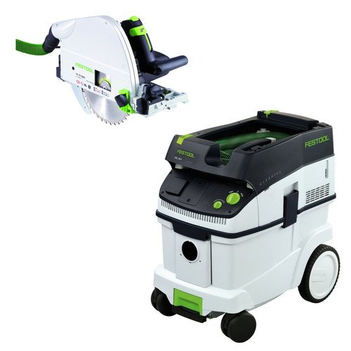 Festool TS 75 EQ Plunge Cut Saw + CT 36 E Dust Extractor Package