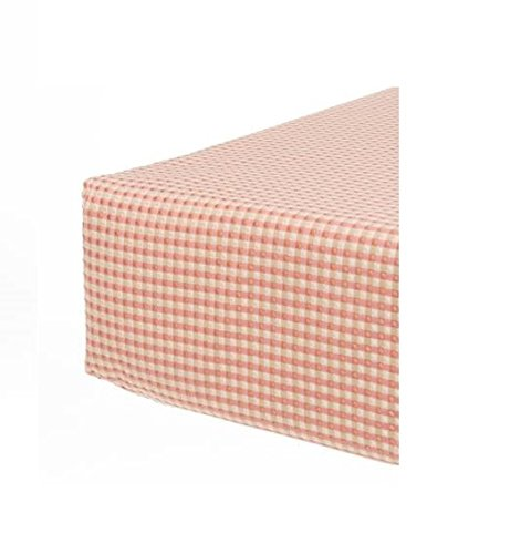 Cotton Crib Skirt Jean Glenna (Glenna Jean Maddie Fitted Check Sheet, Tan)