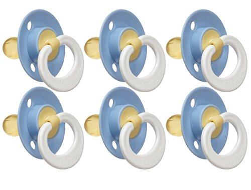 Gerber Nuk Latex (Gerber First Essentials Soft Center Latex Pacifier, 6 Pack, Blue)