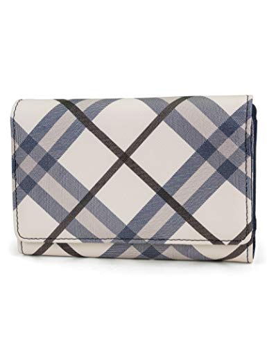 Plaid Tri Fold Wallet - Mundi Small Womens RFID Blocking Wallet Compact Trifold Safe Protection Clutch With Change Purse (Plaid)