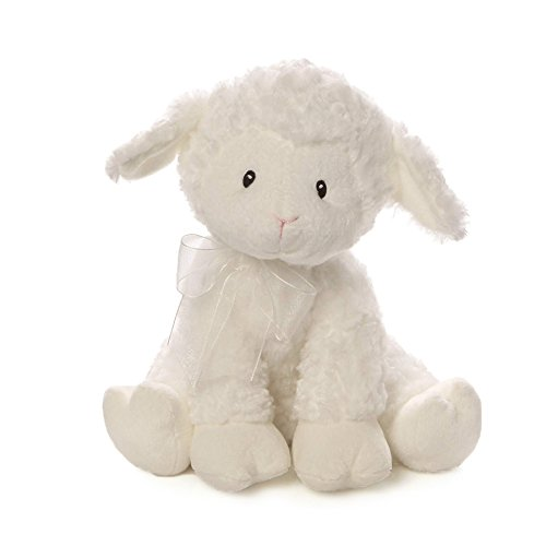 (Baby GUND Lena Lamb Brahms' Lullaby Musical Stuffed Animal Plush, White, 10