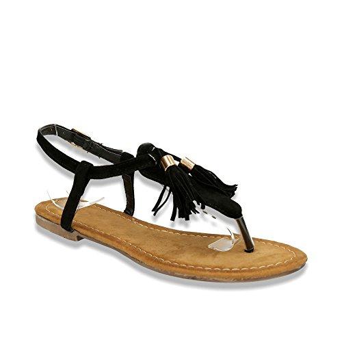 Fusskleidung - Tira de tobillo Mujer Negro - negro