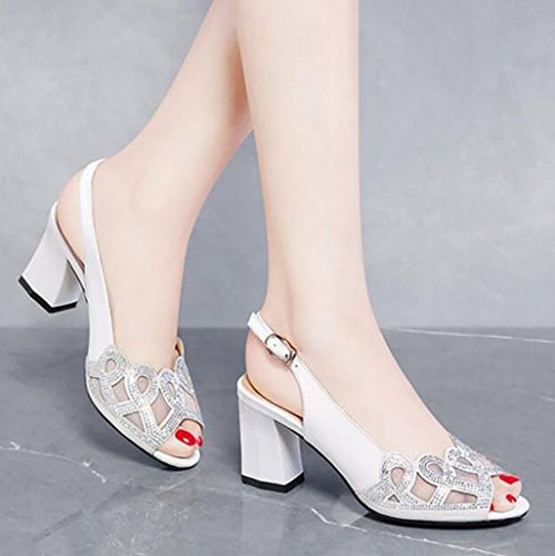 35 sexy Korean with Size sandals Sandals Color Fashion sandals high B sandals ladies Fish shoes wild B heels mouth summer Flat wq0U8nWEHA
