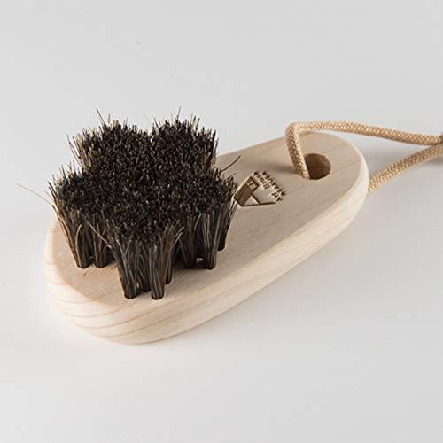 聞きますヶ月目守る浅草アートブラシ 馬毛のフットブラシ「さくら」