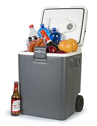 Plug In Cooler >> Rockpals 30 Quart Electric Cooler Warmer On Wheels And Handle