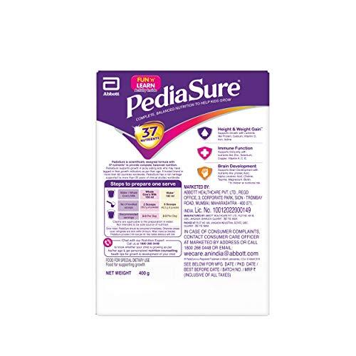 PediaSure Health and Nutrition Drink Powder for Kids Growth - 400g (Premium Chocolate) 5