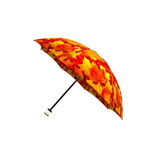 90b25b52a425 LA BELLA UMBRELLA Canadian Autumn Designer Unique Travel Art Umbrella in  Stylish Gift Box - Automatic/Manual/Stick