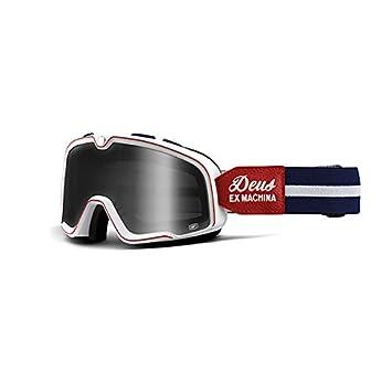 6956b6c72d1213 100% - Barstow Deus Ex Machina - Masque moto avec verre fumé, taille unique