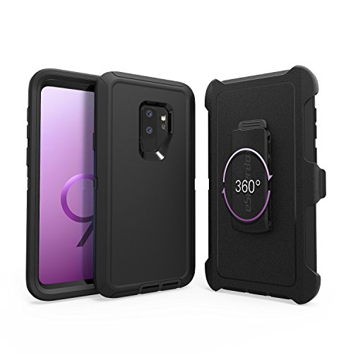 - Samsung Galaxy S9 case,By eSellerBox,black,Heavy Duty Rugged Multi-Layer Hybrid With Kickstand Belt Clip Holster Cover for Samsung s9 (s9)